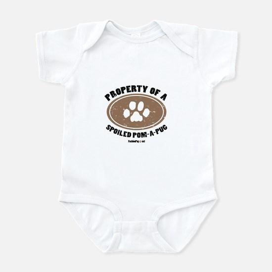Pom-A-Pug dog Infant Bodysuit