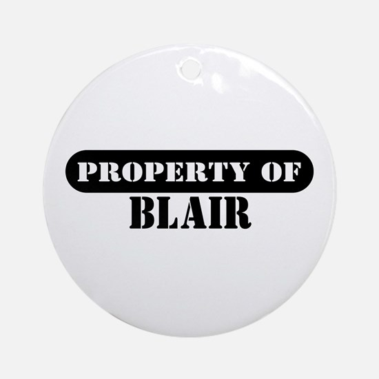 Property of Blair Ornament (Round)