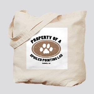 Pointing Lab dog Tote Bag