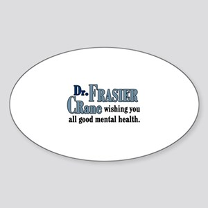 Frasier Good Mental Health Quote Sticker (Oval)