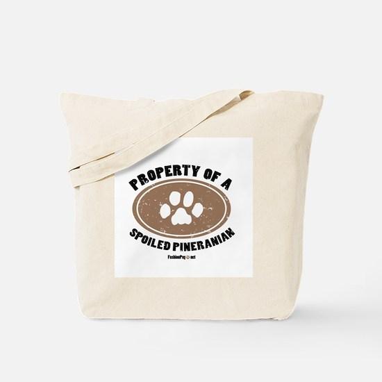 Pineranian  dog Tote Bag