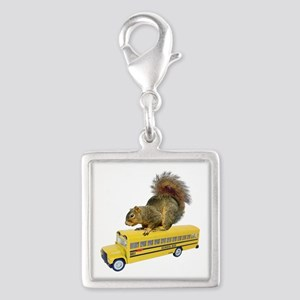 Squirrel on School Bus Charms