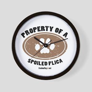 Plica dog Wall Clock