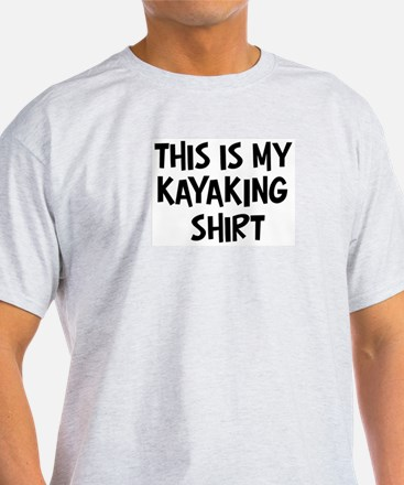 My Kayaking Ash Grey T-Shirt