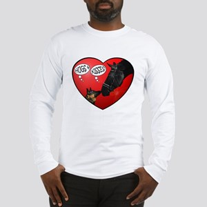 Love & kisses, dog & horse heart Long Sleeve T-Shi