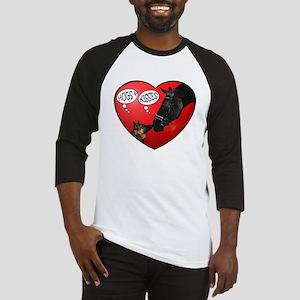 Love & kisses, dog & horse heart Baseball Jersey