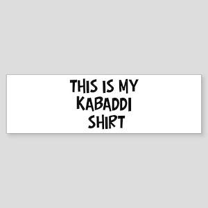 My Kabaddi Bumper Sticker