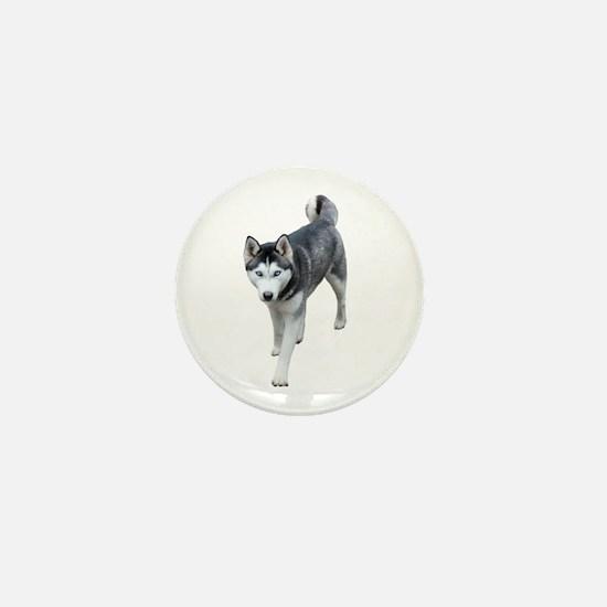 Husky Mini Button
