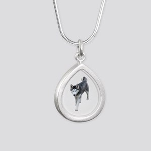 Husky Silver Teardrop Necklace