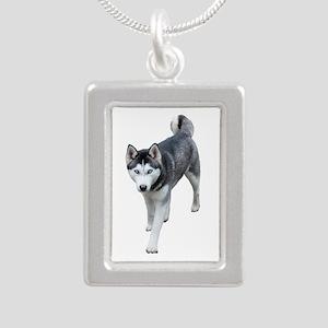 Husky Silver Portrait Necklace