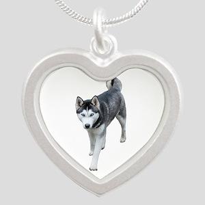 Husky Silver Heart Necklace