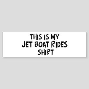 My Jet Boat Rides Bumper Sticker