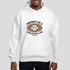 Peke-A-Pin dog Hooded Sweatshirt