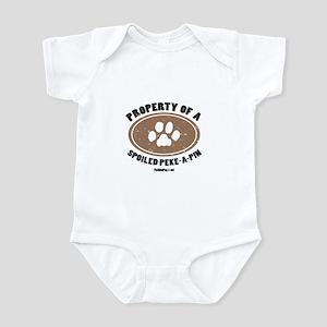 Peke-A-Pin dog Infant Bodysuit