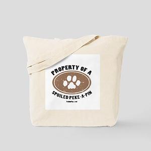 Peke-A-Pin dog Tote Bag