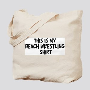 My Beach Wrestling Tote Bag