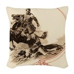 Horseman Borzoi Woven Throw Pillow