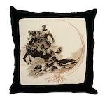 Horseman Borzoi Throw Pillow