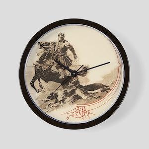 Horseman Borzoi Wall Clock