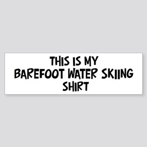 My Barefoot Water Skiing Bumper Sticker