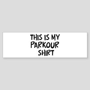 My Parkour Bumper Sticker