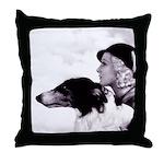 Art Deco Borzoi Flapper Throw Pillow