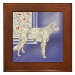 Holiday Borzoi Framed Tile