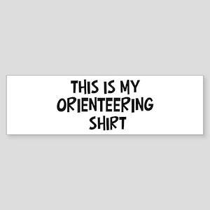 My Orienteering Bumper Sticker