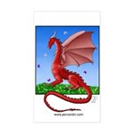 Dragonfield Rectangle Sticker