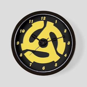 Retro Yellow 45 rpm Wall Clock