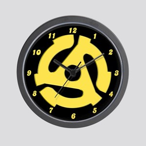 Retro vintage gifts cafepress retro yellow 45 rpm wall clock m4hsunfo