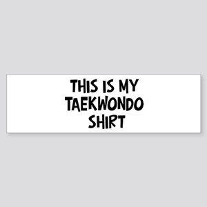 My Taekwondo Bumper Sticker