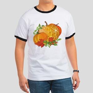 Fall Pumpkins Ringer T