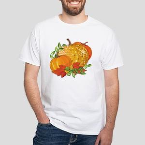 Fall Pumpkins White T-Shirt