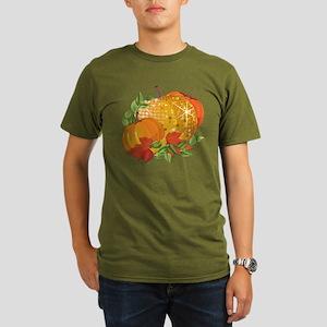 Fall Pumpkins Organic Men's T-Shirt (dark)