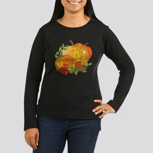 Fall Pumpkins Women's Long Sleeve Dark T-Shirt