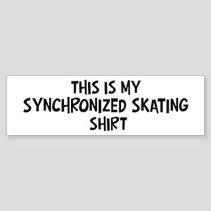 My Synchronized Skating Bumper Sticker