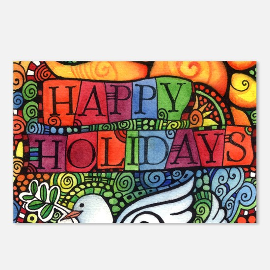 Happy Holidays Christmas Postcards (Package of 8)