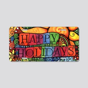 Happy Holidays Christmas Pe Aluminum License Plate