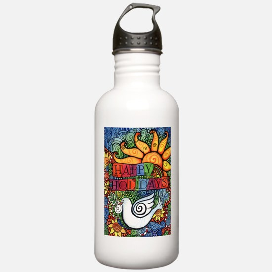Happy Holidays Christm Water Bottle