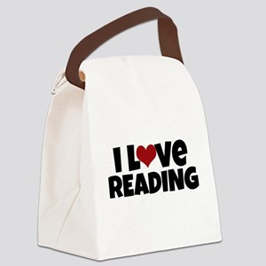 I Love Reading Canvas Lunch Bag