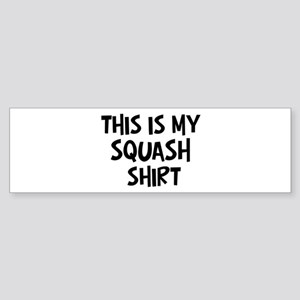 My Squash Bumper Sticker