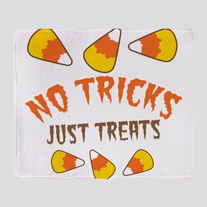NO TRICKS just TREATS candy corn Throw Blanket