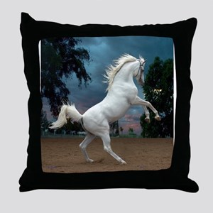 The White Stallion Throw Pillow