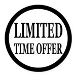 Limited Time Offer Round Car Magnet