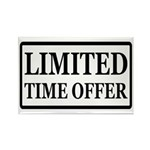 Limited Time Offer Rectangle Magnet
