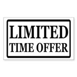Limited Time Offer Sticker (Rectangle)