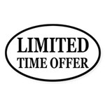 Limited Time Offer Sticker (Oval)