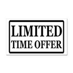 Limited Time Offer Rectangle Car Magnet