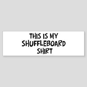 My Shuffleboard Bumper Sticker